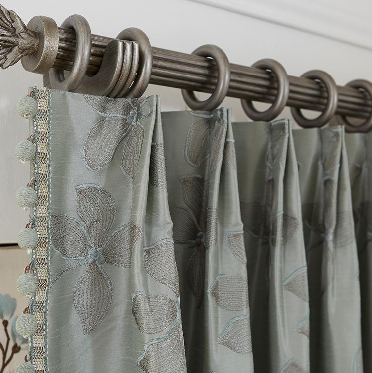 Floral Euro Double Pinch Custom Drapes