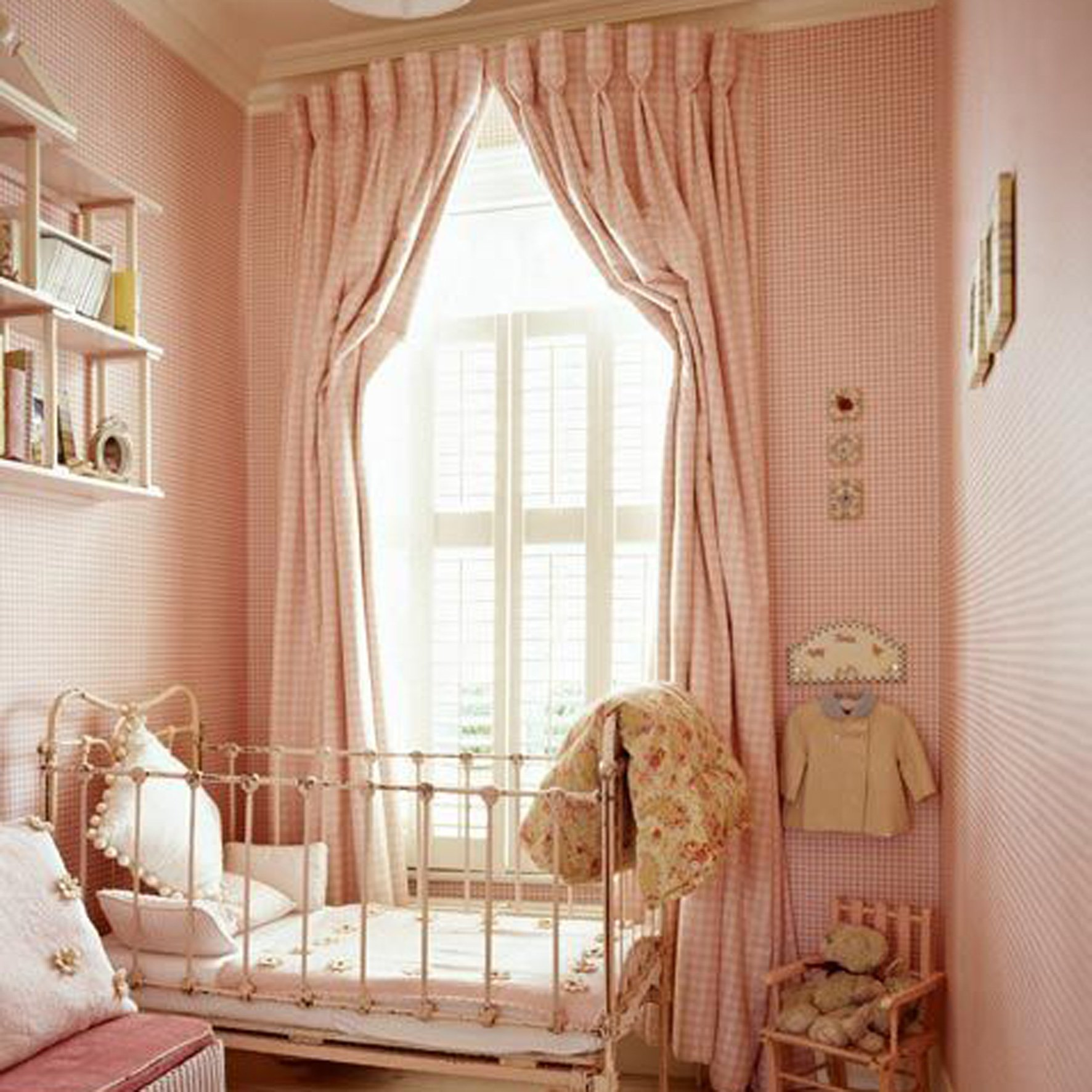 Checked Goblet Kids Room Custom Curtains