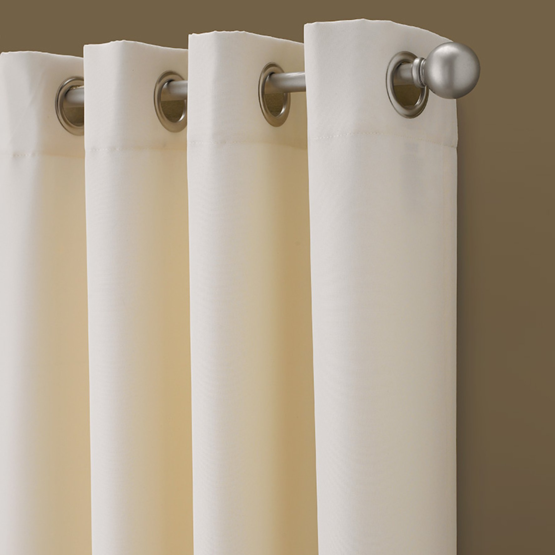 Cream With Silver Silver Grommets Custom Panel