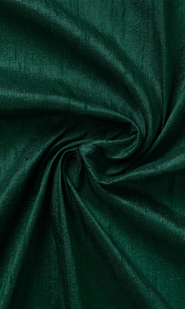 Green Silk Cheap Custom Curtains