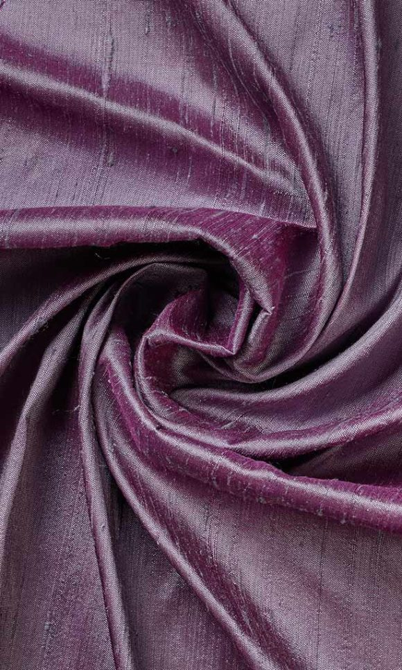 Purple Silk Custom Drapes For Nursery