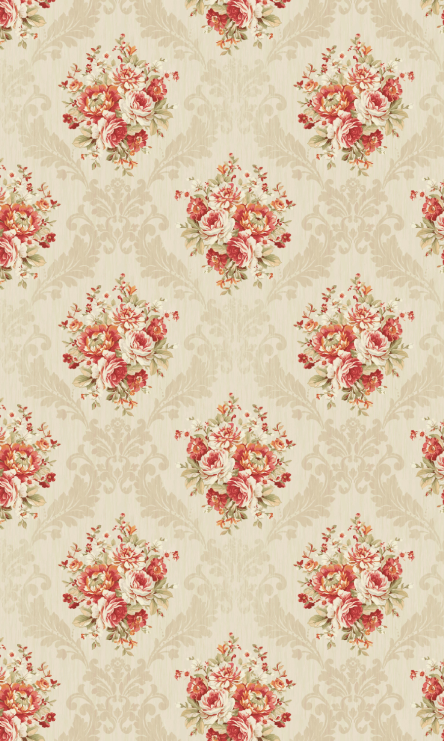Royal Beige & Floral Print Curtains And Blinds