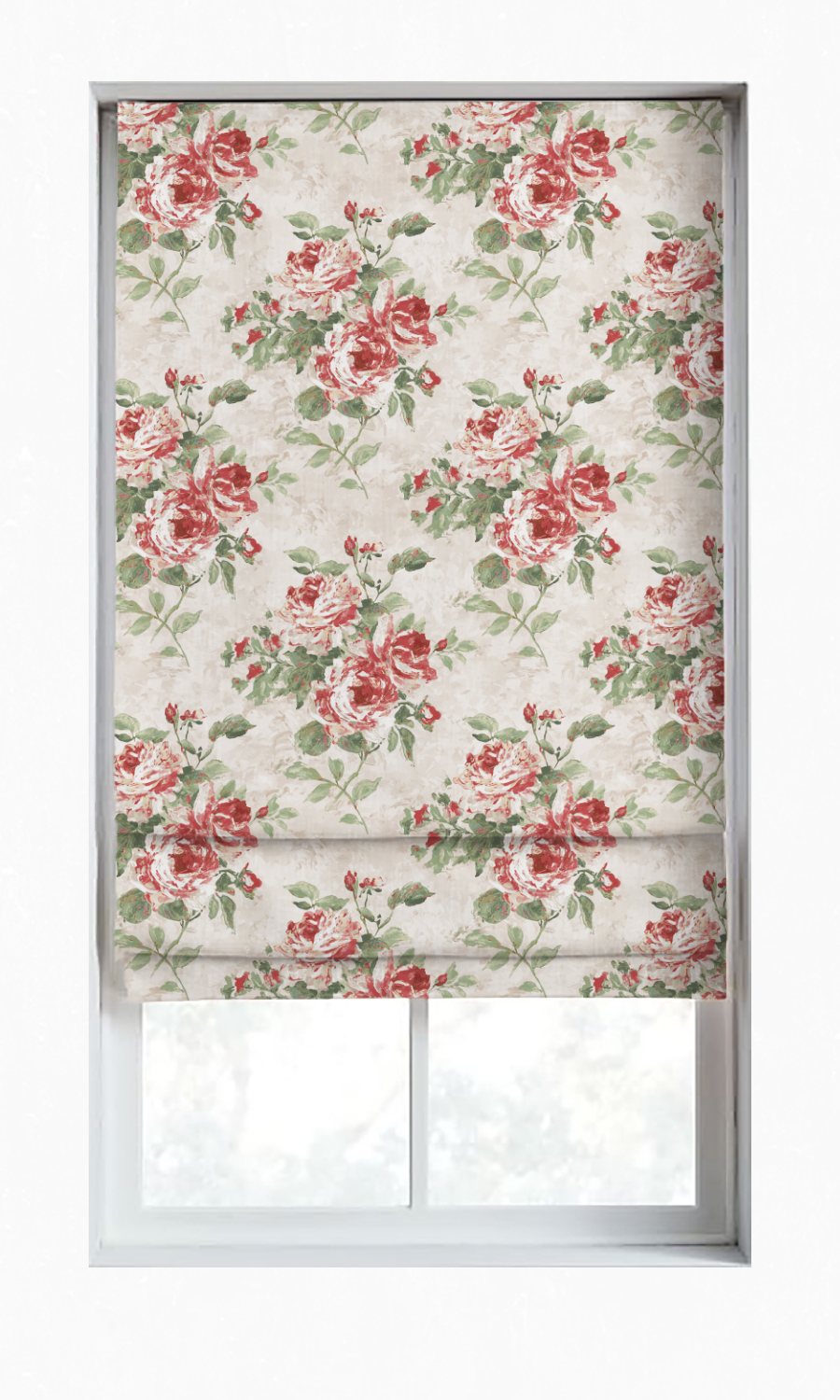 Floral Printed Blinds For Living Room