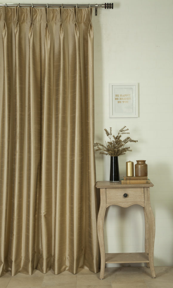 Silk Custom Drapery & Roman Blinds