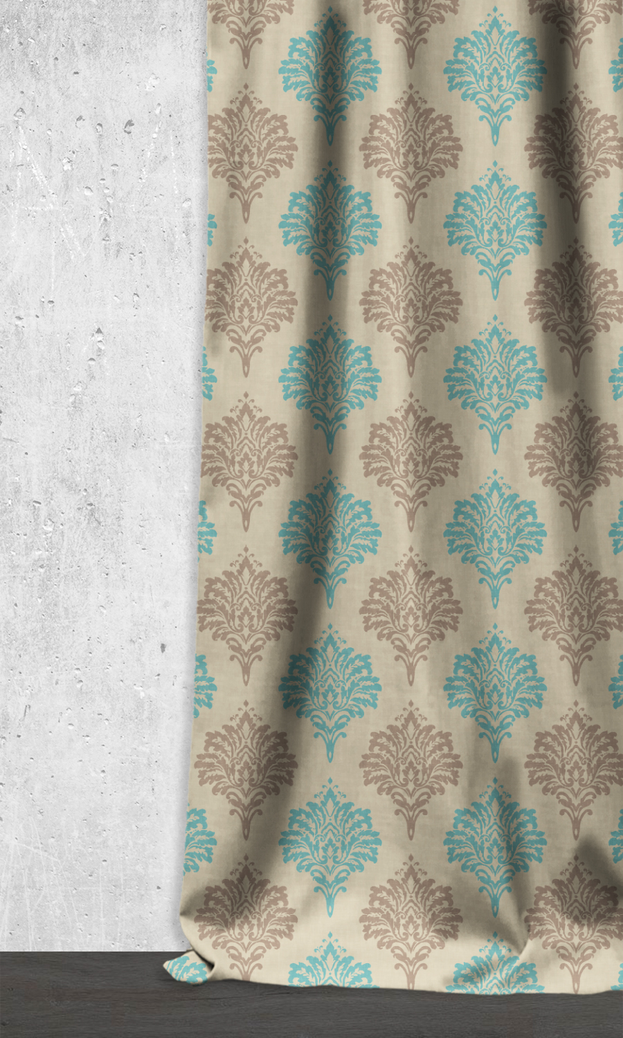 Floral Printed Custom Extra Long Curtains