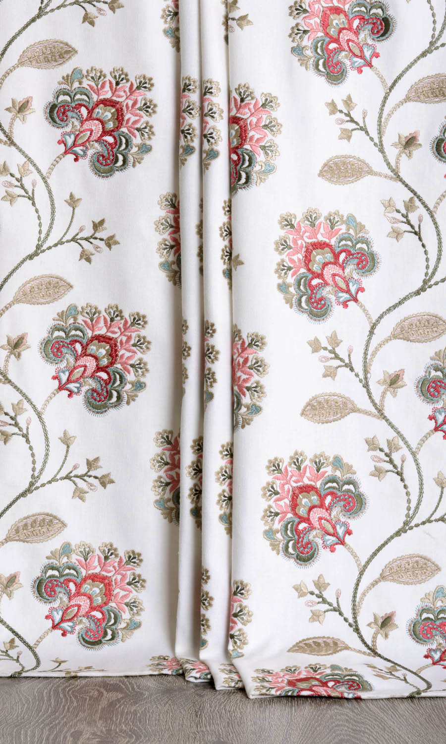 Floral Patterned Extra Long Curtains