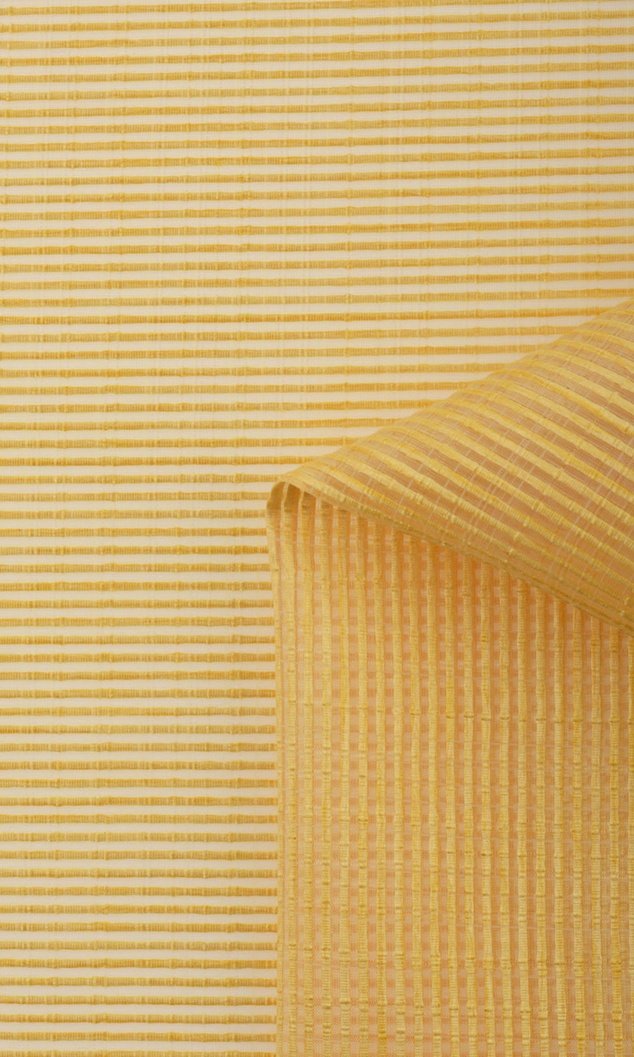 Yellow Striped Custom Window Treatments