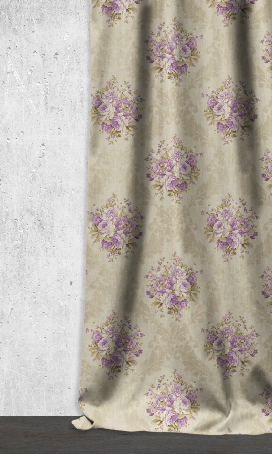 Printed Floral Custom Curtains For Living Room