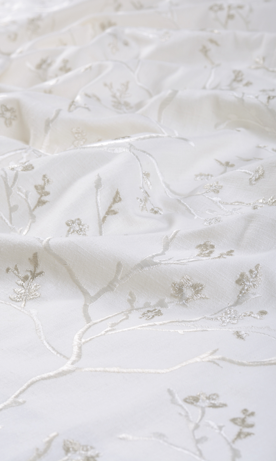 White Cotton Extra Wide Curtains