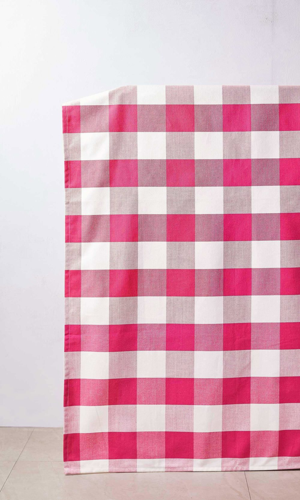 Red White Checked Custom Curtains