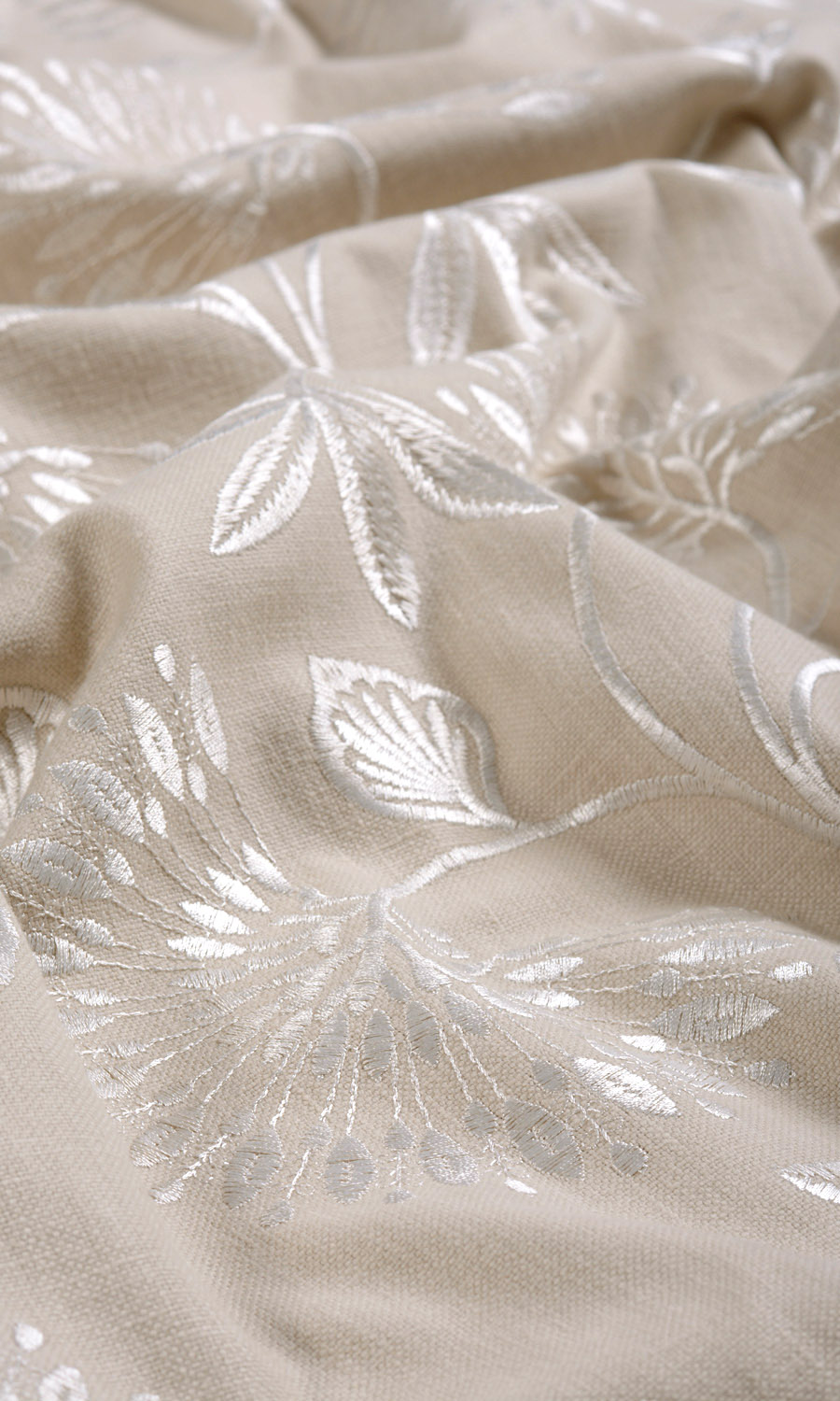Floral Embroidery Custom Drapes