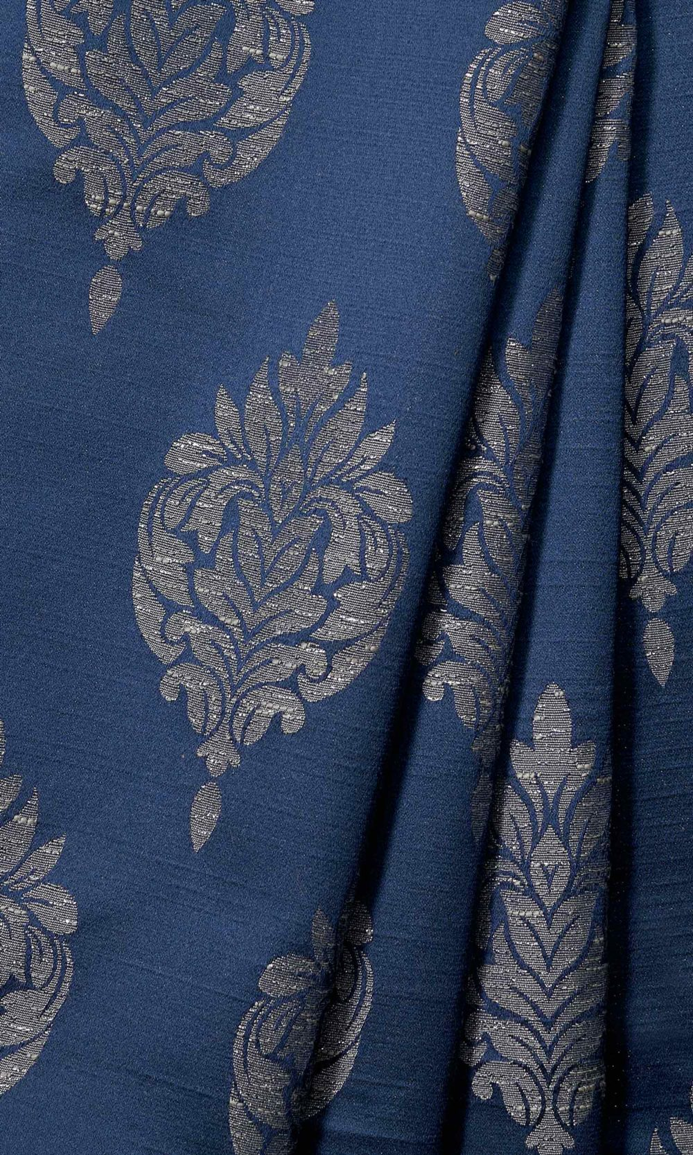 Blue Custom Extra Long Drapes