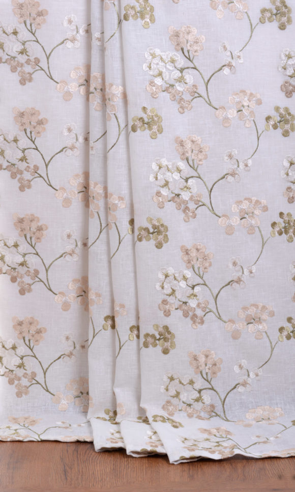 Sheer Floral Affordable Abstract Window Treatments
