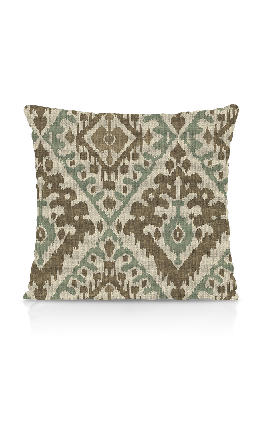 Printed Ikat Custom Knife Edge Cushions