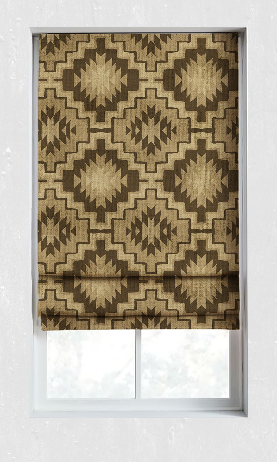 Printed Custom Window Treatments For Living Room