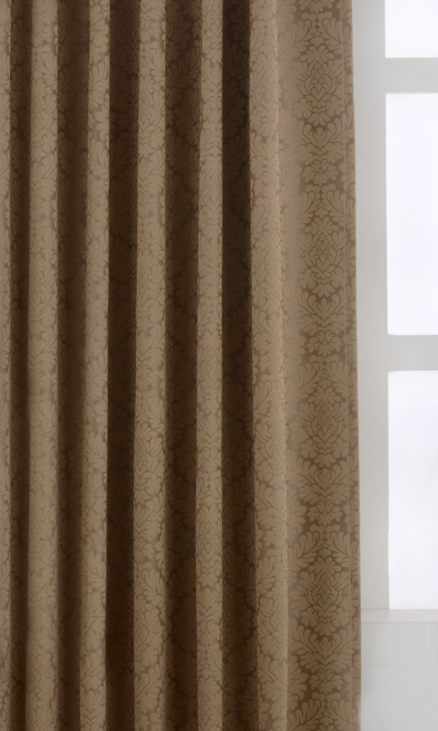Brown Blackout Custom Curtains For Bedroom