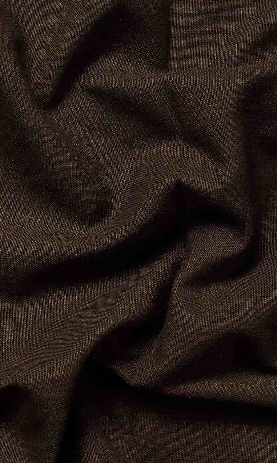 Brown Cotton Extra Long Custom Curtains