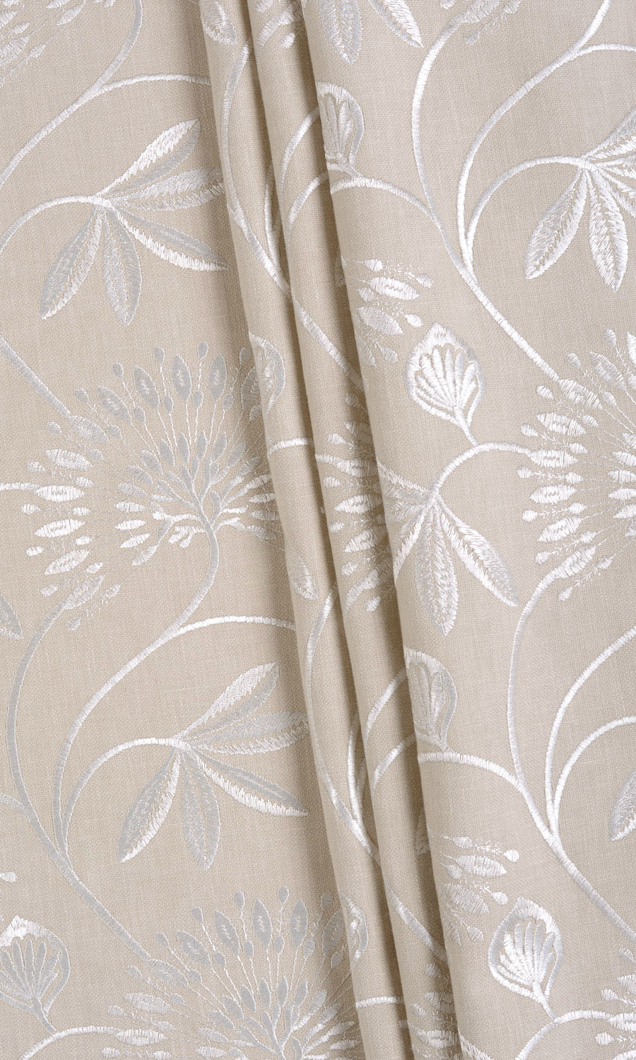 Affordable Floral Embroidery Curtains For Living Room