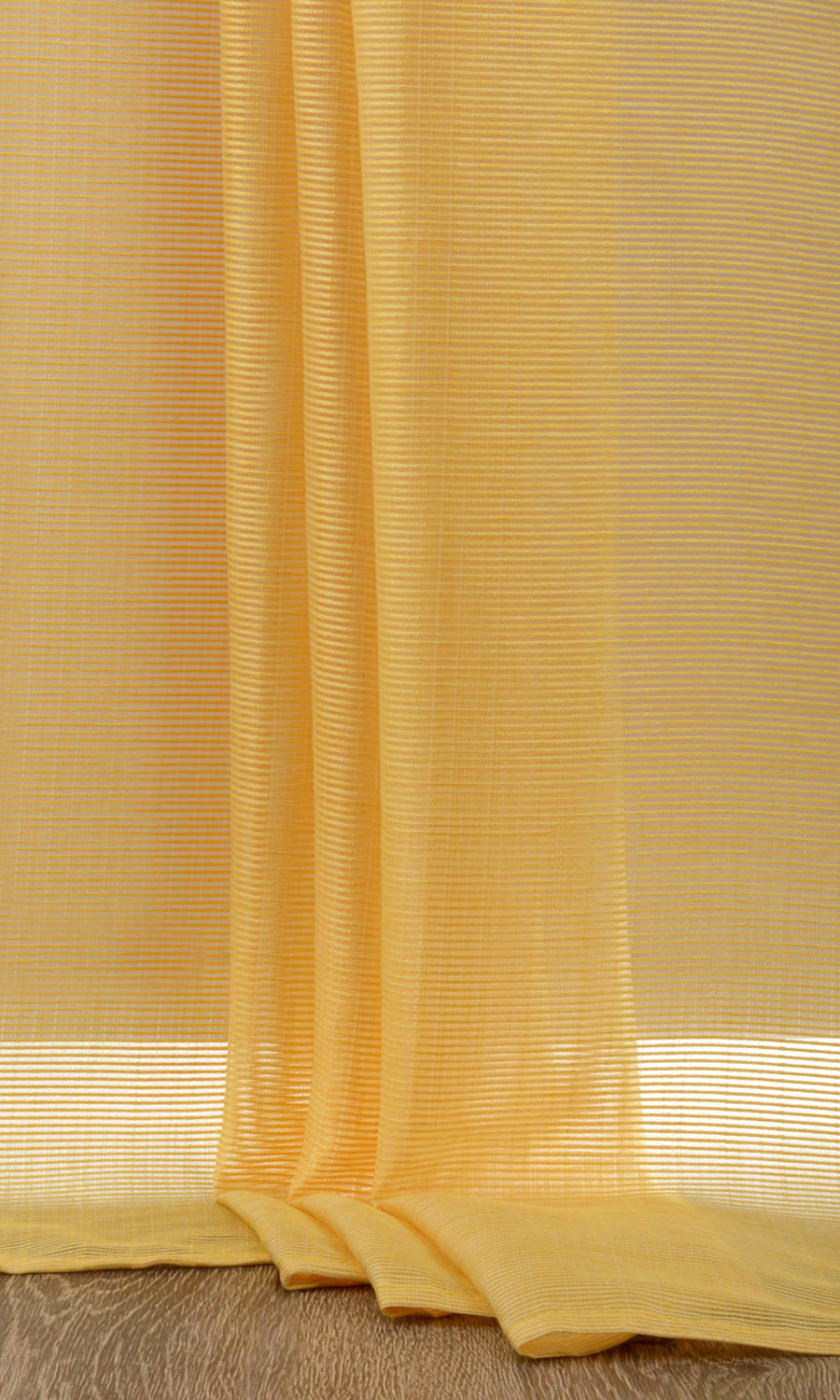 Yellow Striped Custom Long Drapes