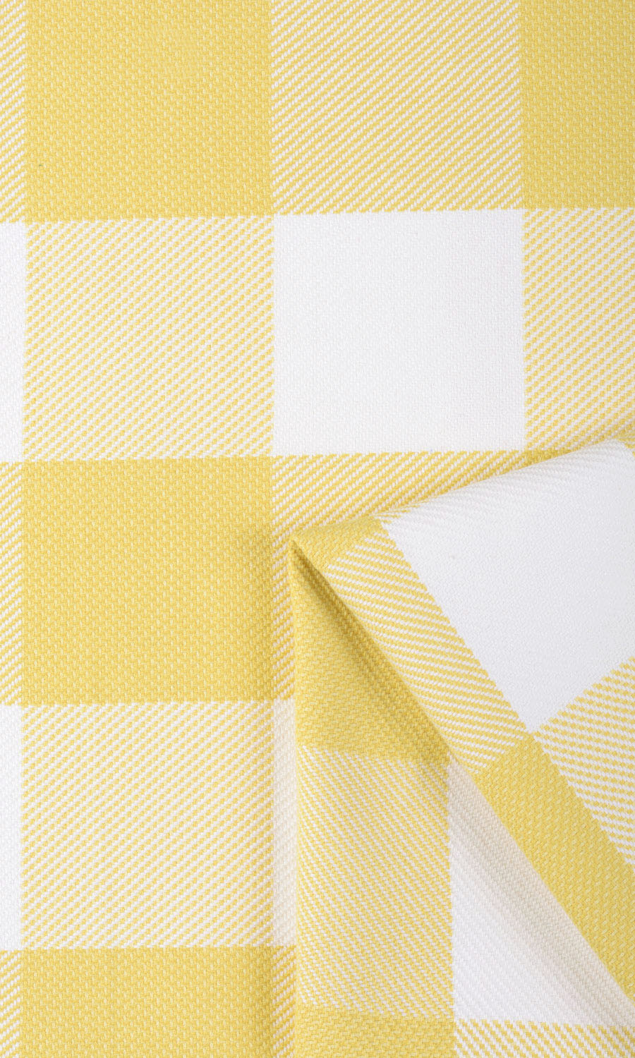 Yellow Checked Extra Long Custom Curtains