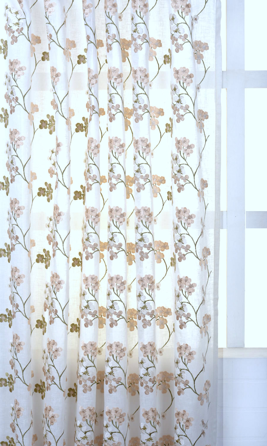 Sheer Floral Custom Valance & Window Treatments