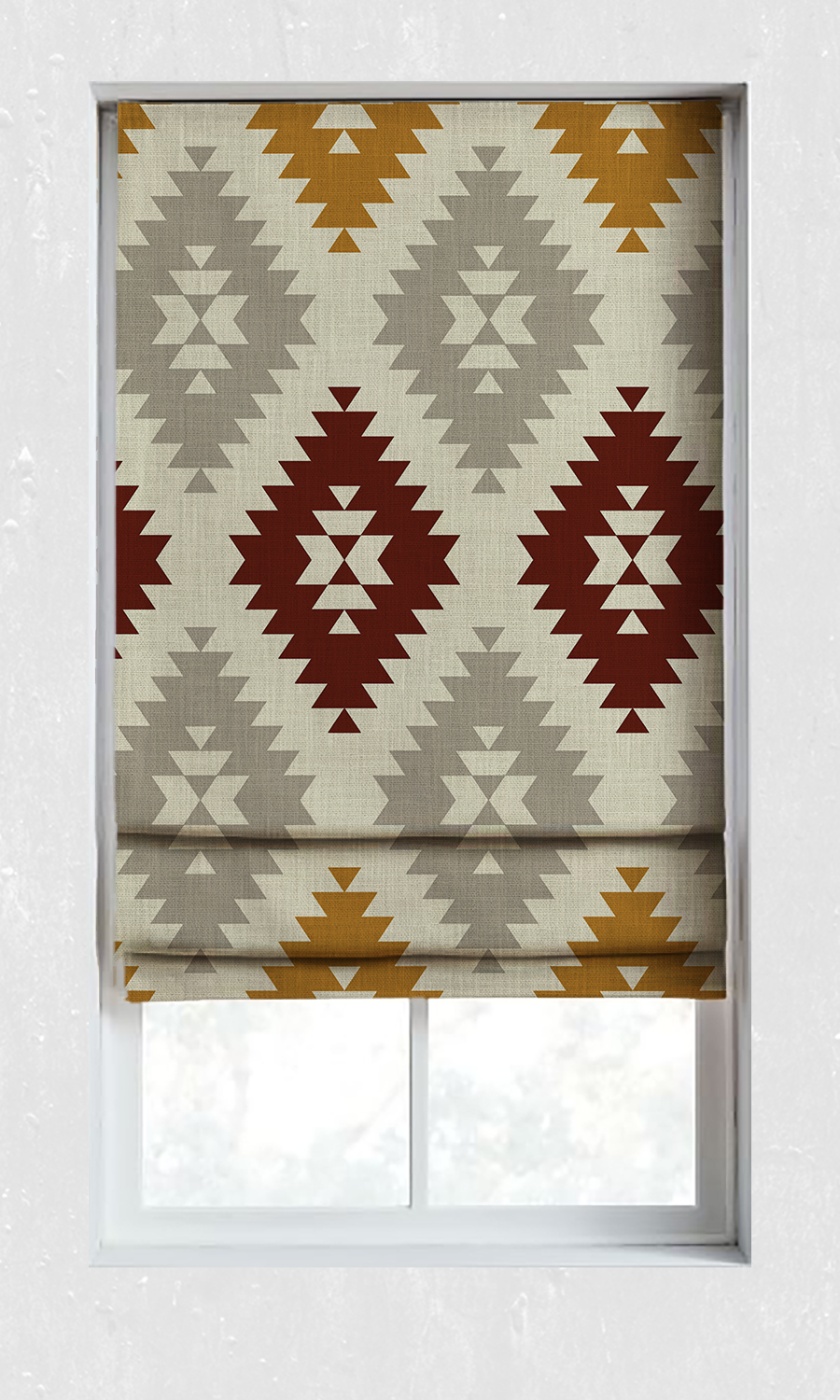 Printed Roman Blinds For Kitchen