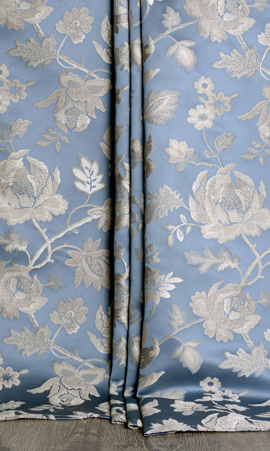 Floral Extra Long Custom Curtain