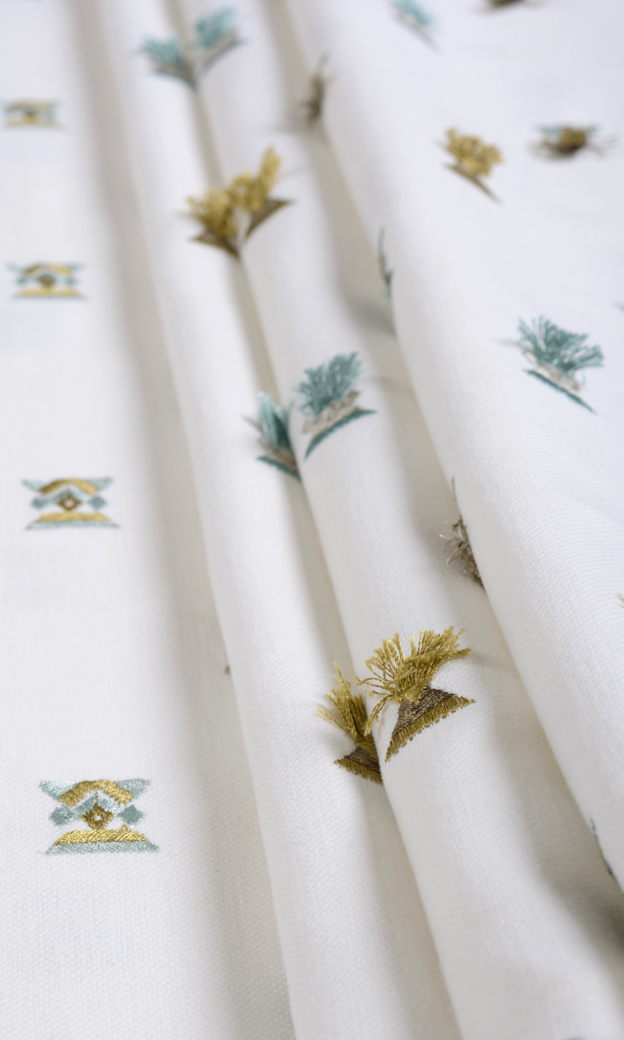 Affordable White Floral Embroidery Curtains For Bedroom