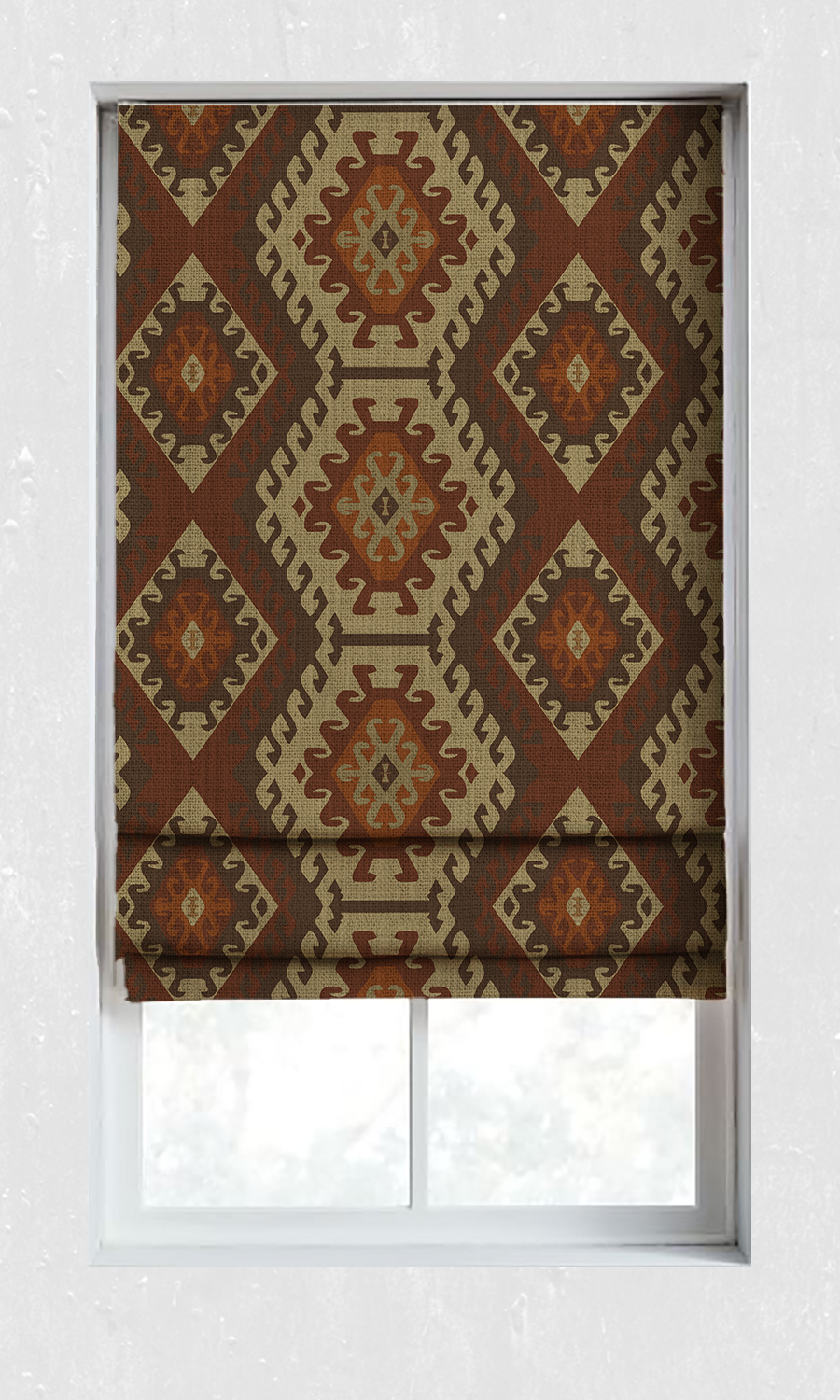Geometric Cotton Custom Roman Shades