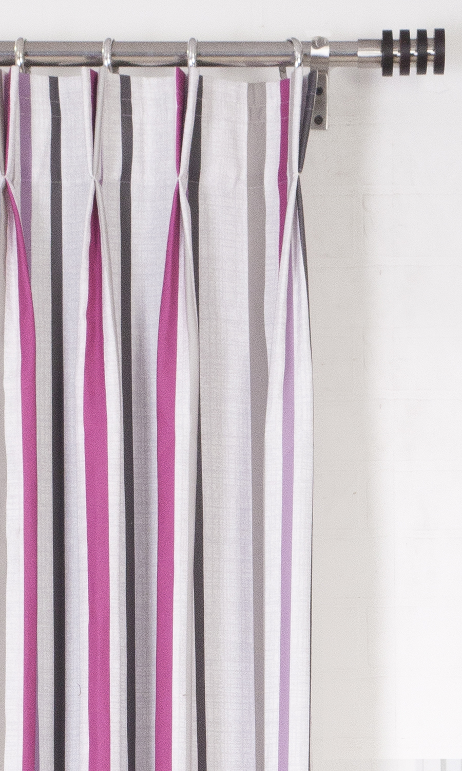 Printed Striped Wide Custom Curtains