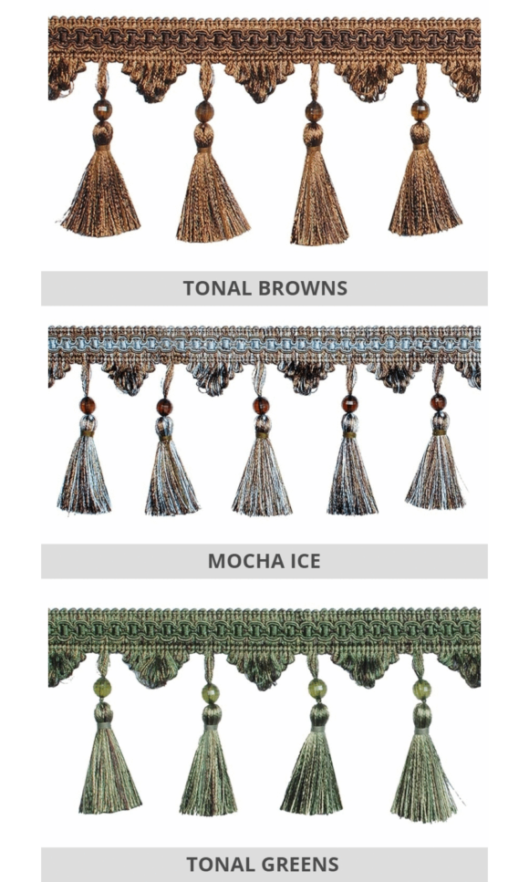 Tassel Trims For Roman Shades & Drapery