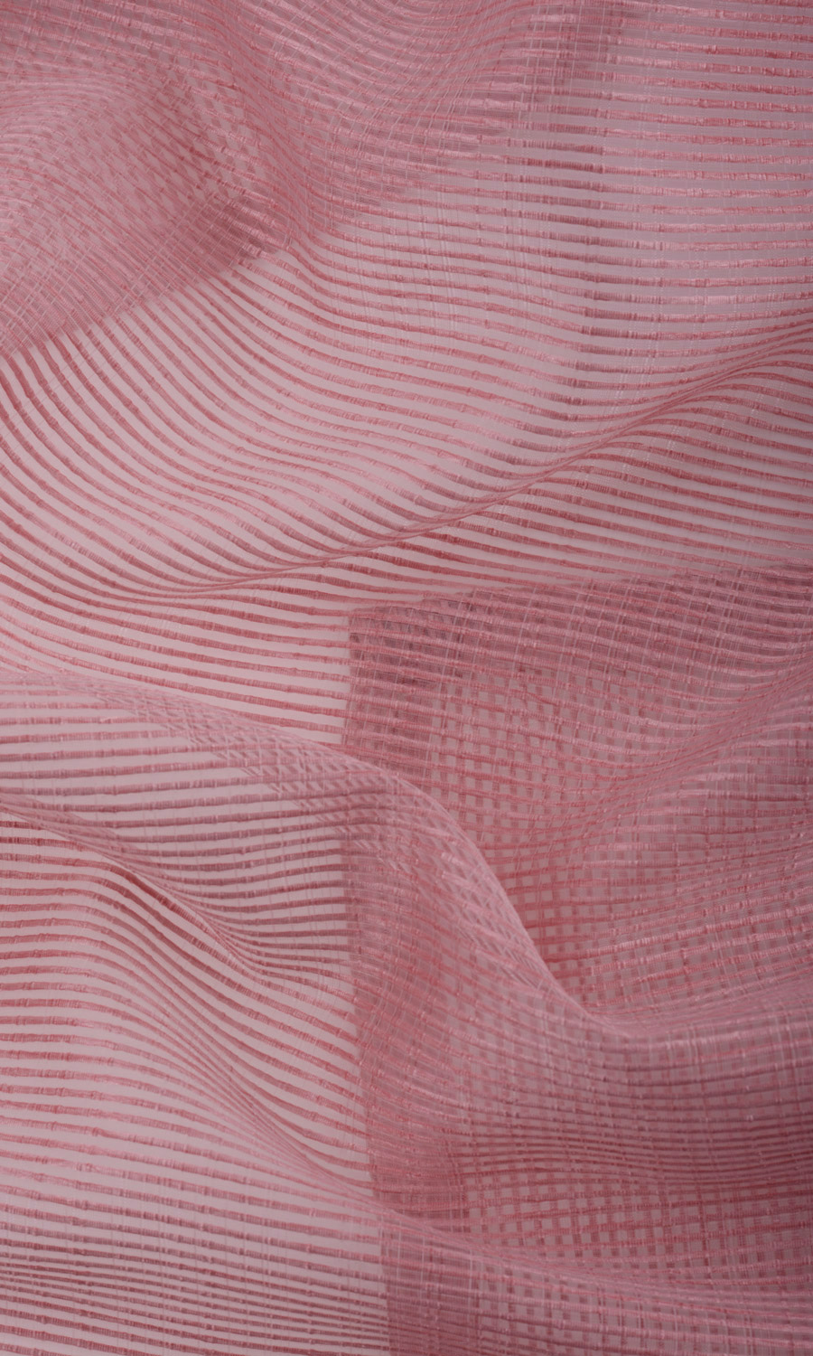 Pink Striped Custom Extra Wide Curtains