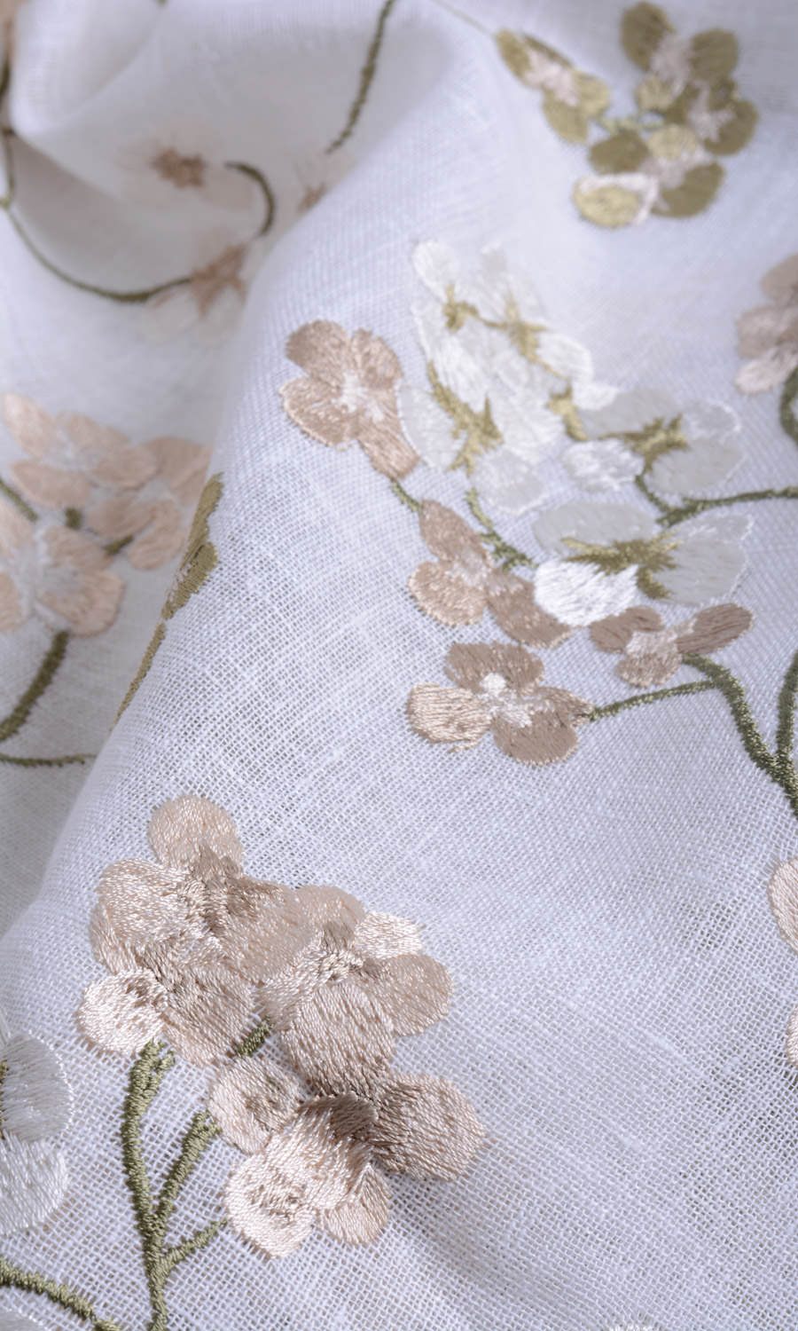Sheer Floral Custom Fake Shades For Dining Room