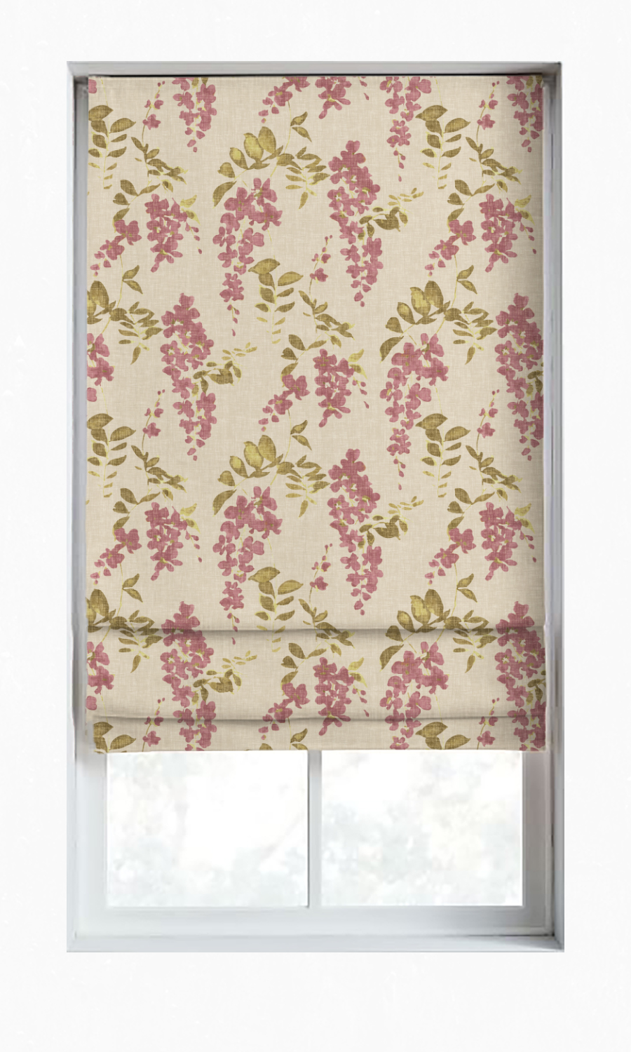 Printed Custom Roman Blinds For Kitchen