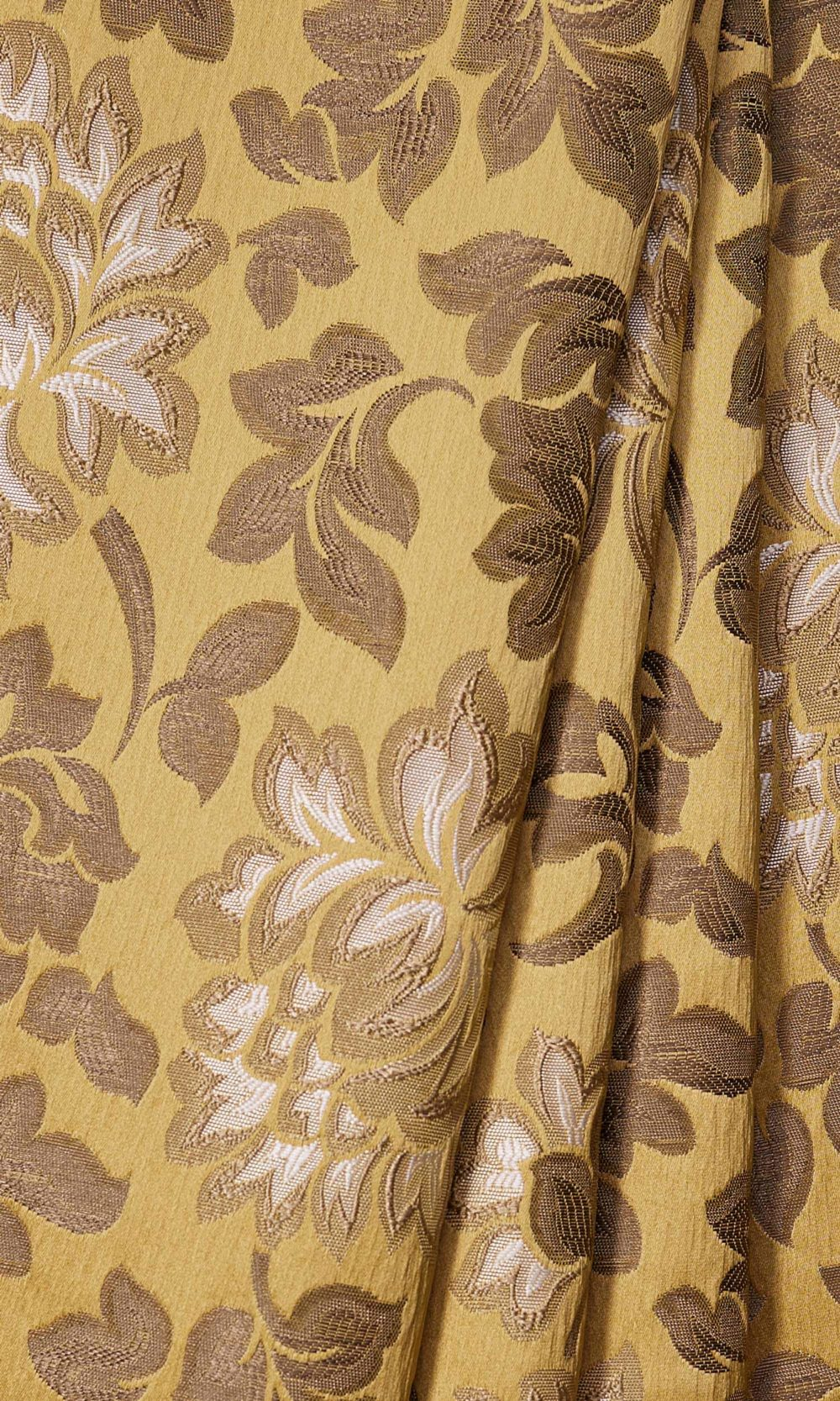 Yellow Floral Custom Roman Blinds