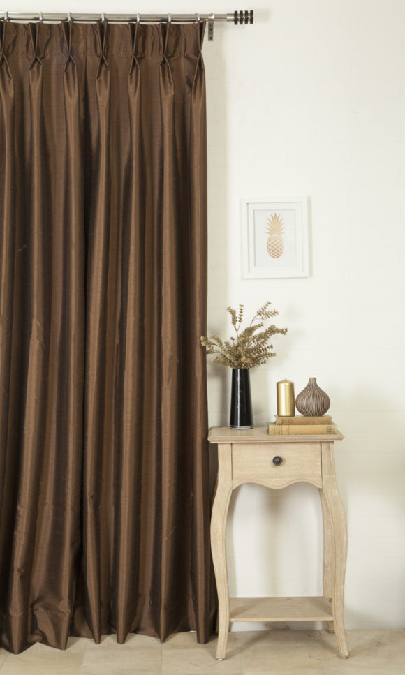 Brown Custom Valance & Window Treatments