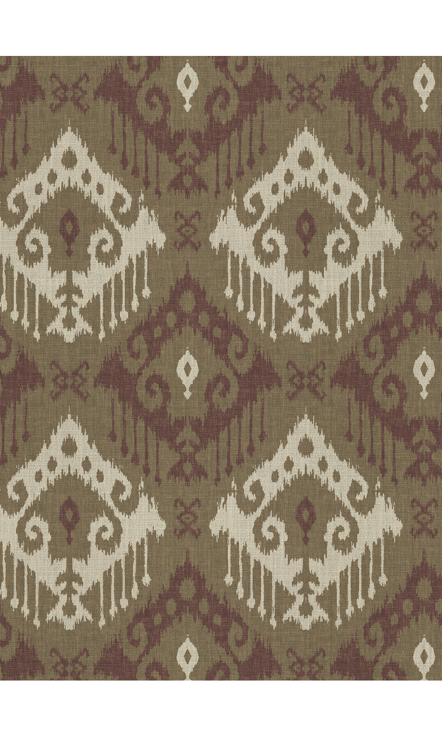 Brown Printed Extra Wide Custom Curtains