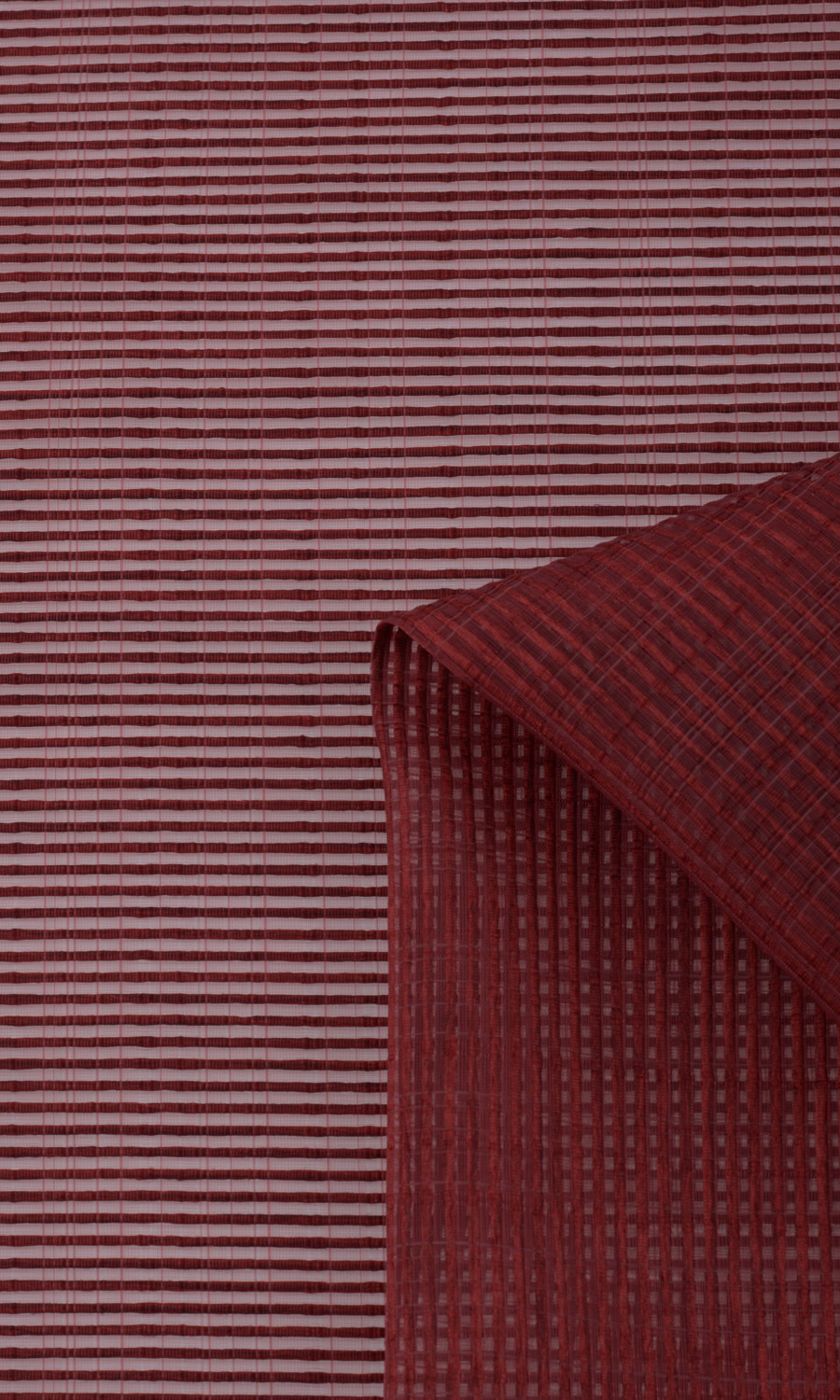 Red Striped Fake Roman Shade