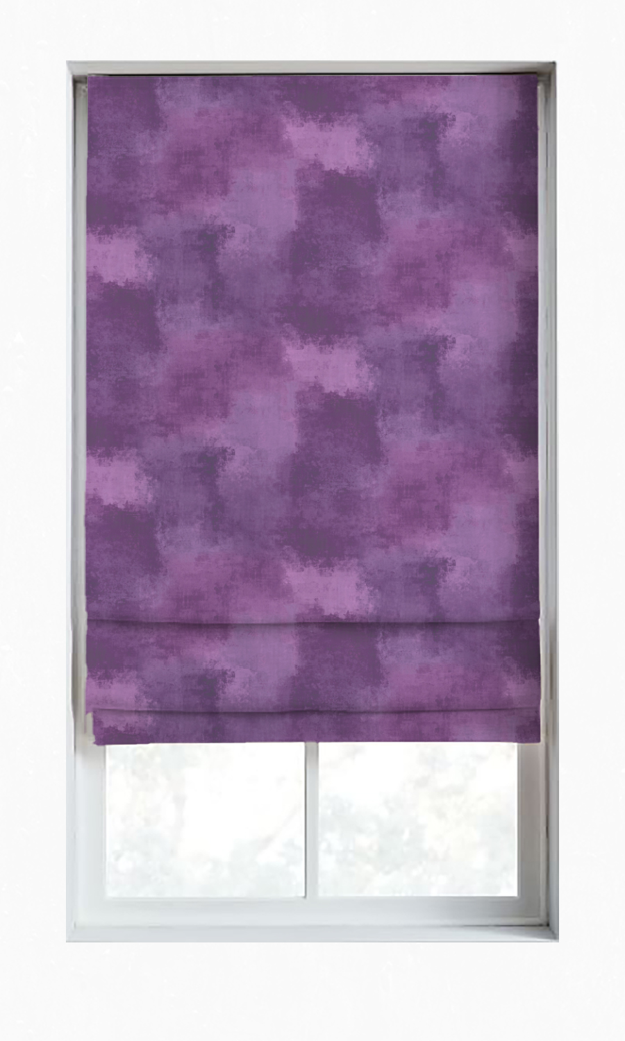 Purple Custom Roman Shades