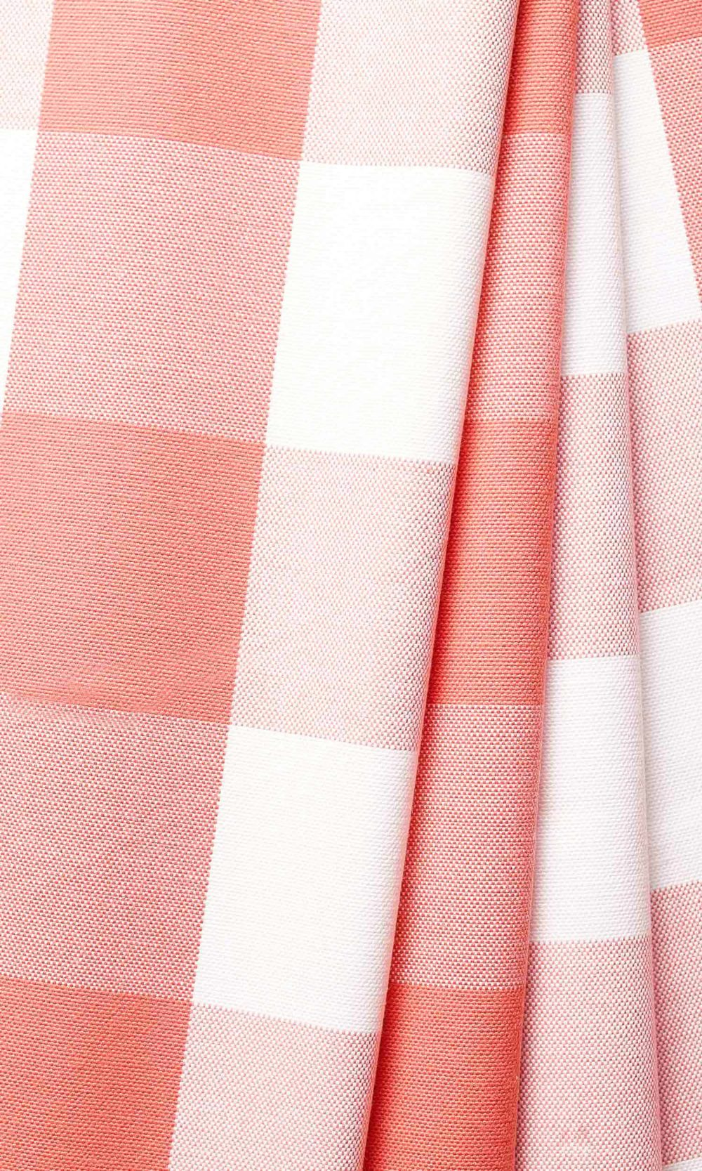 Pink & White Checked Custom Curtains