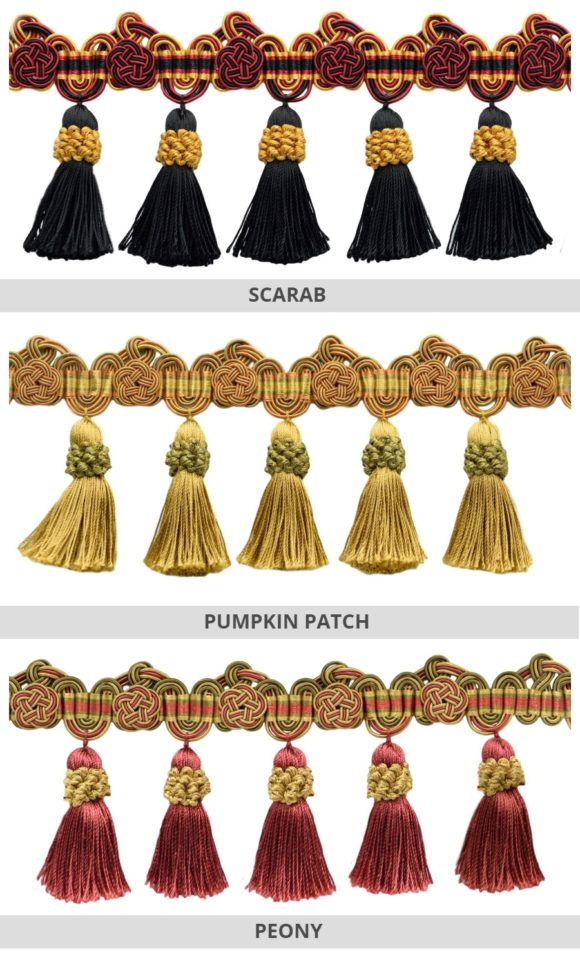 Tassel Trims For Drapes & Window Shades