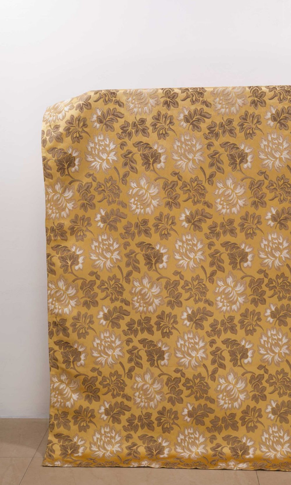 Yellow Floral Custom Window Treatments
