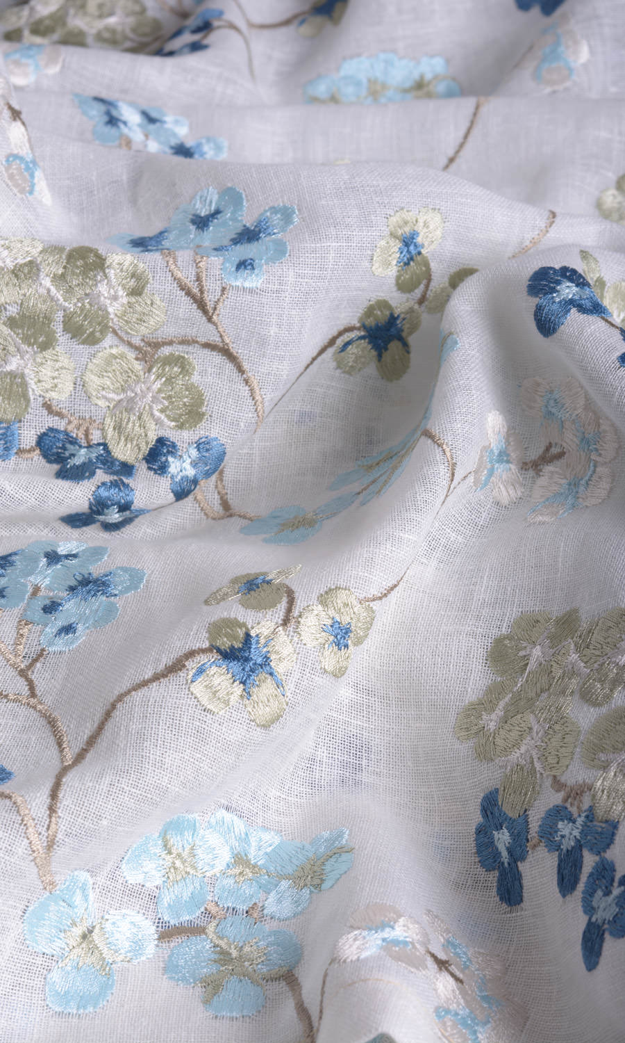 Sheer Floral Custom Curtains For Bedroom