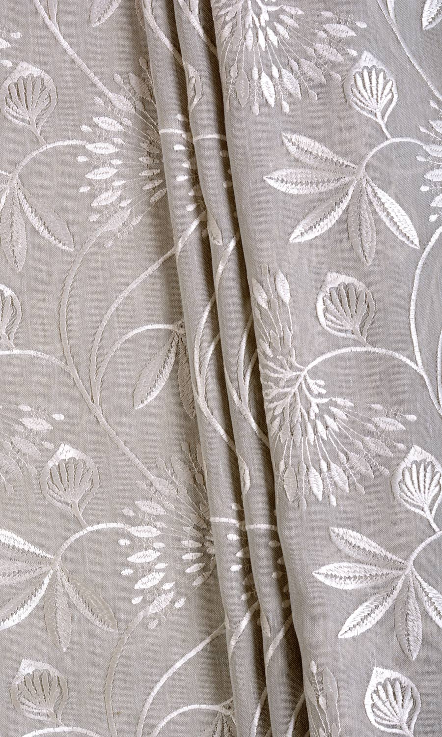 Floral Embroidery Curtains For Bedroom