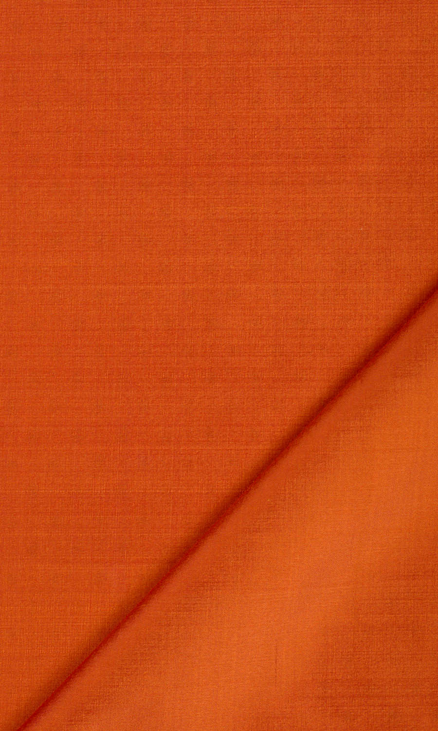 Orange Silk Custom Roman Shade For Living Room