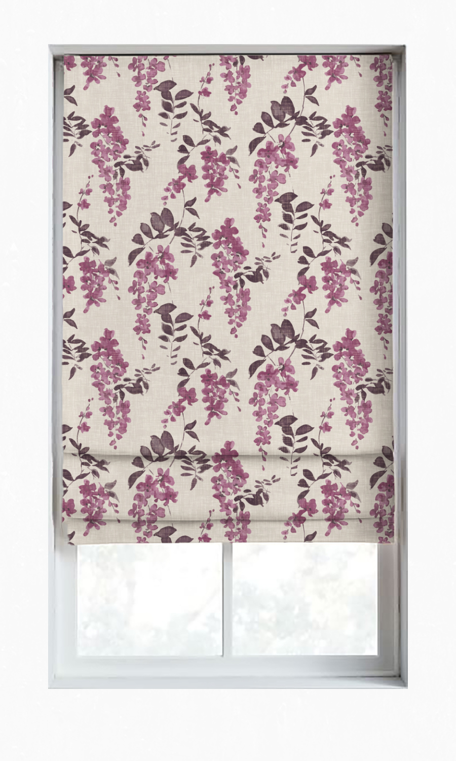 Printed Custom Roman Blinds For Living Room
