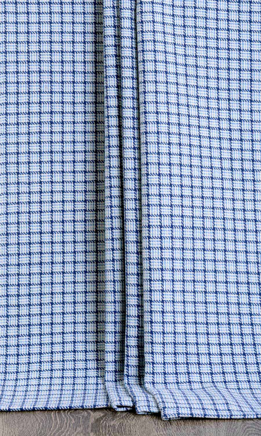 Checked Custom Extra Long Drapery