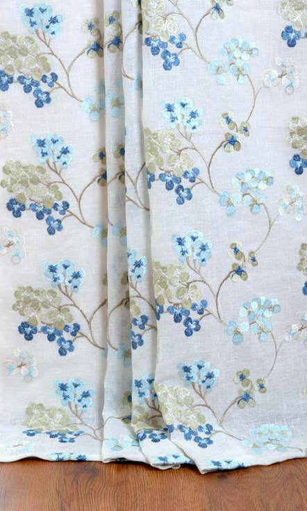 Sheer Floral Custom Roman Blinds For Living Room