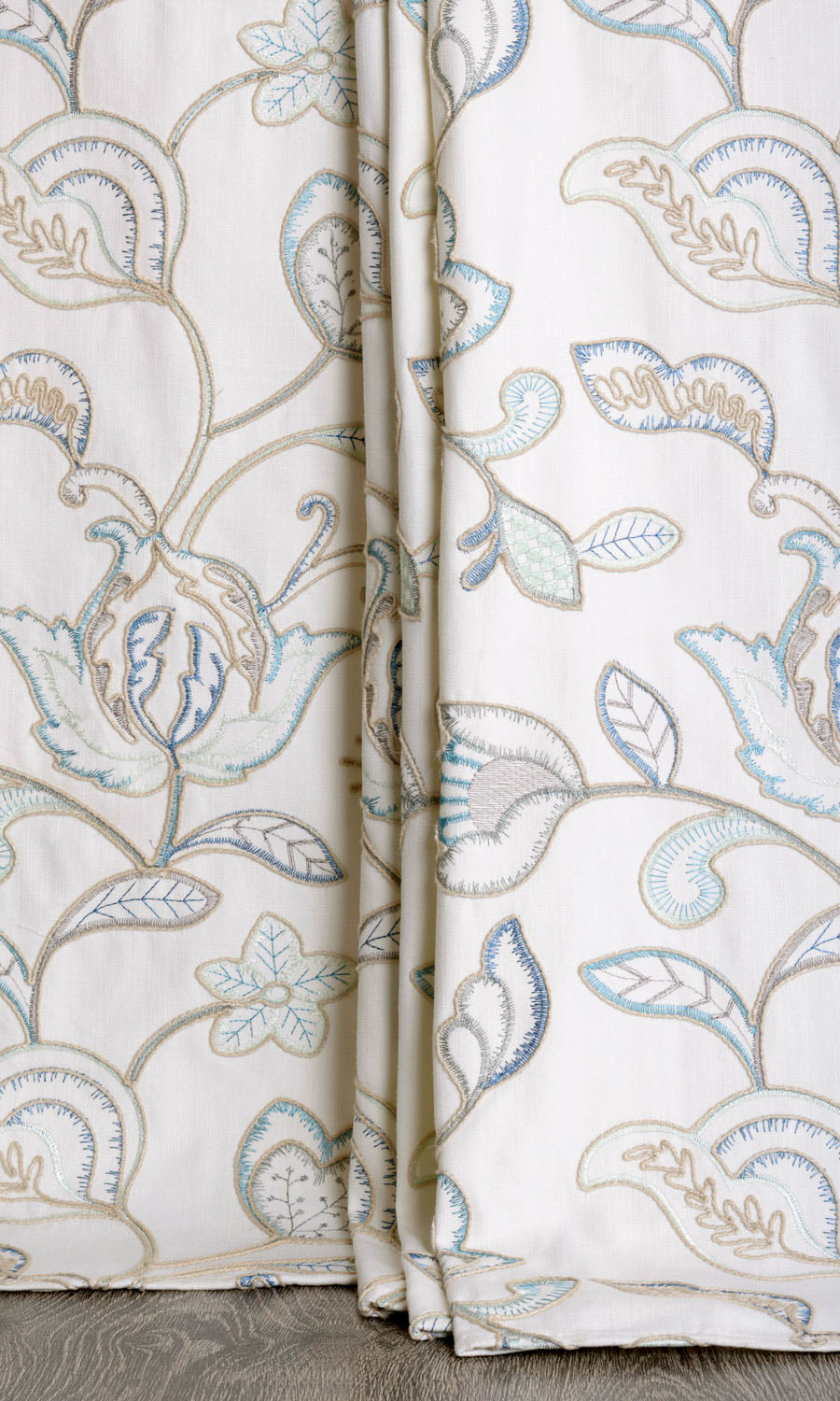 Floral Printed Extra Long Drapes For Bedroom