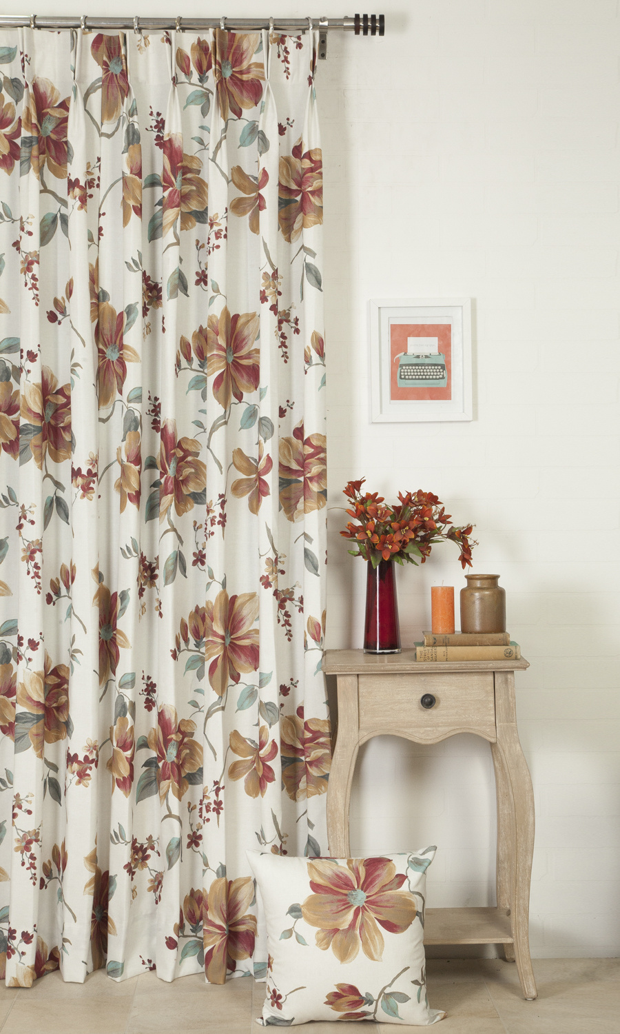 Floral Printed Extra Long Custom Curtains